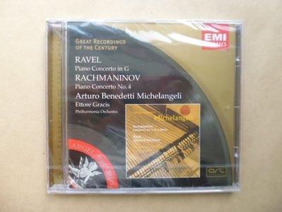 明星錄*2000年英國版.RAVEL&RACHMANINOV:PIANO CONCERTOS MICHELANGELI