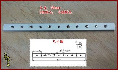 【木頭人】T-Track 300mm 鋁製滑軌(公) Bosch GTs1031可用 T型 軌道 滑軌 滑道 木工