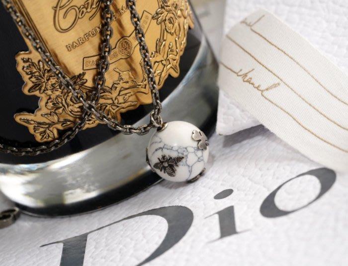 Dior N0717CDLCY301U CD Stress Necklace Gold/white 小蜜項鍊 白