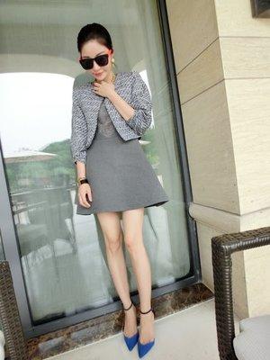 零碼出清現金價_品名: 韓版連衣裙(單色灰色) J-10985