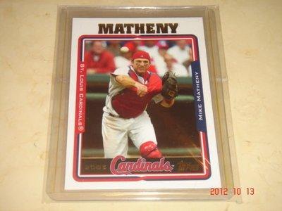 美國職棒 Cardinals Manager Mike Matheny 2005 Topps #124 球員卡
