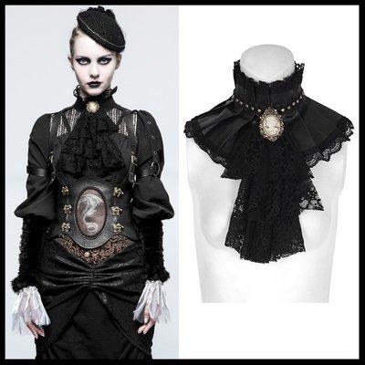 *MINI PUNK LOLO*歐洲中古世紀-法式萊茵河畔的皇家宮廷貴族仕女華麗百褶蕾絲造型領巾(S-225)