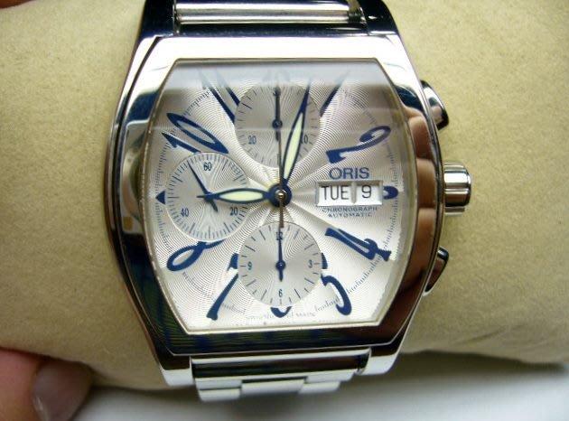 [吉宏精品交流中心]ORIS 豪利時 不鏽鋼 三眼 計時碼錶