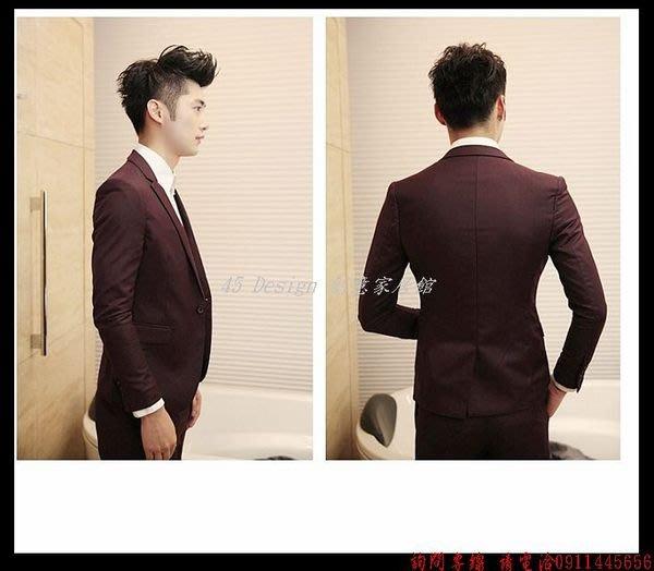 韓版純色休閑小西裝一套修身西服男伴郎服 魔術師發型師 大尺碼西裝6