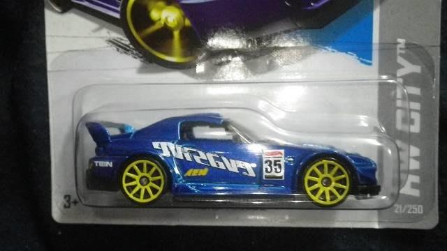 傳奇車庫-收藏級 風火輪絕版卡 本田 Honda S2000 藍 黃輪圈版
