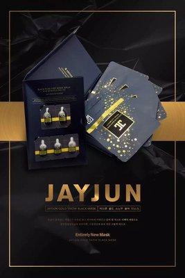 @彩色巴黎@ JAYJUN最新款黑金童颜水光面膜 (面膜5片+24K金黑珍珠精華)