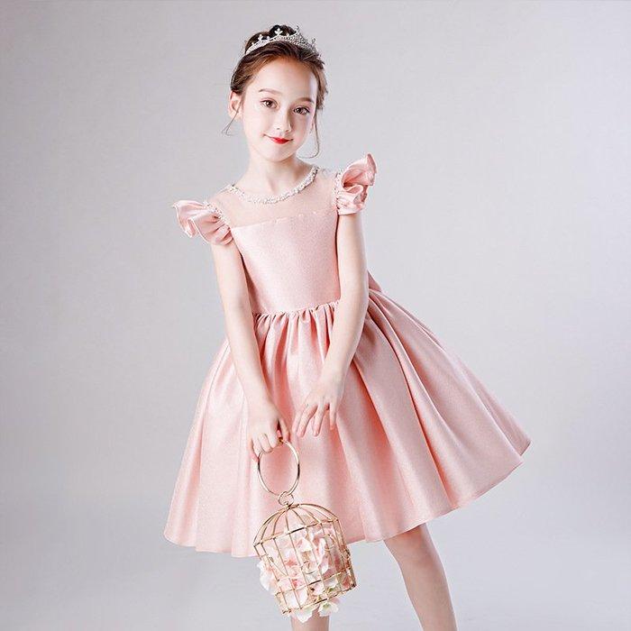 •*~ 辣媽咪衣飾小舖 ~*•❤童裝系列❤K901451韓版大童夏款甜美清新時尚蓬蓬蕾絲亮片可愛公主禮服公主洋裝