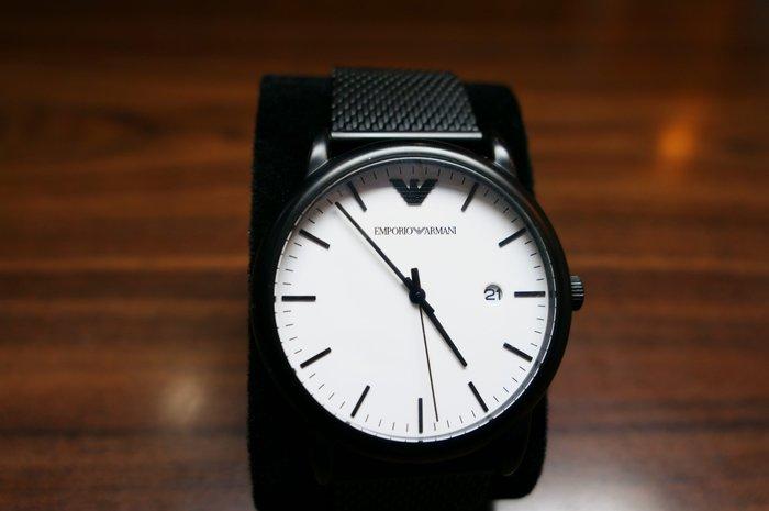 [吉宏精品交流中心]EMPORIO ARMANI 亞曼尼 AR11046 白面 石英 男錶(盒卡全)