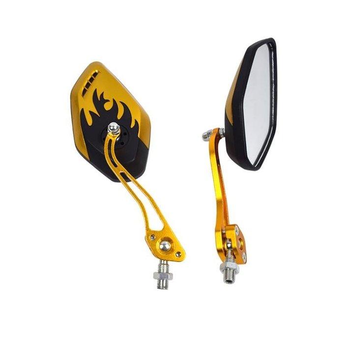 摩托後視鏡 電動車通用反光鏡多色后視鏡彩色倒車鏡摩托車改裝自行車倒車鏡郵CXZJ