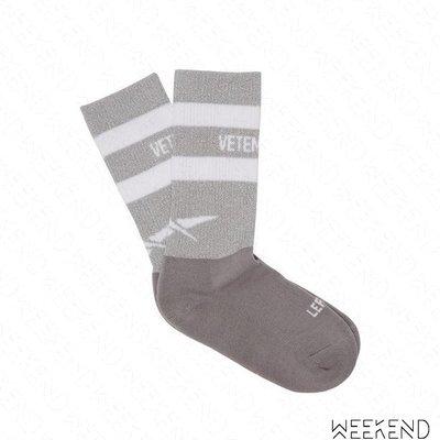 【WEEKEND】 VETEMENTS x REEBOK 聯名 反光 棉襪 運動襪 襪子 中筒襪 灰色 18秋冬