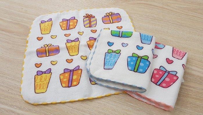 ☆°萊亞生活館 ° 612SF 紗布小毛巾-禮物 手帕 小方巾 口水巾 100%棉 台灣製造