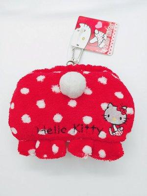 【特價商品】日本三麗鷗Hello Kitty凱蒂貓拉繩票卡套鑰匙圈吊飾