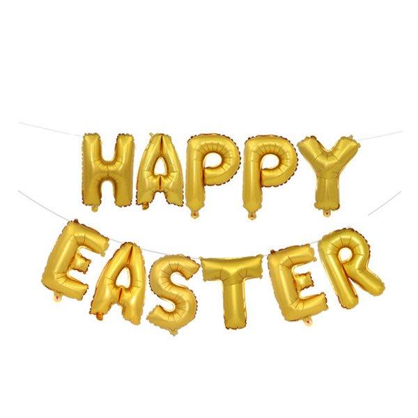 Happy Easter字母鋁膜氣球 佈置【JI2333】《Jami Honey》