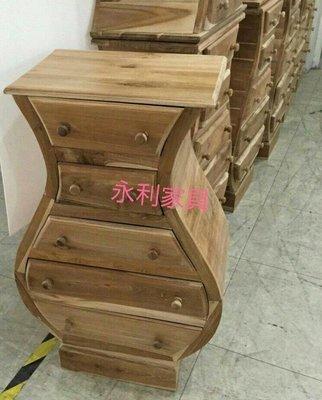 柚木葫蘆腰造型五抽櫃