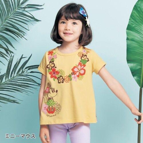 Co媽日本精品代購 預購 日本 正版 迪士尼 最新 碎花拼接 純棉 T恤 童裝 90~140