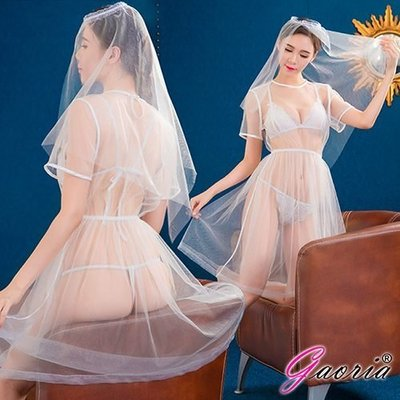 【Gaoria】新娘嫁衣 浪漫白紗四件式新娘角色扮演服 N4-0018