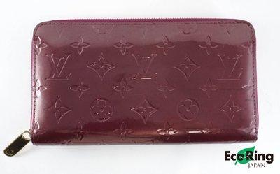 [EcoRing]*Louis Vuitton Wallet Vernis PatentLeather Wine CA2098*RankB-197024211-