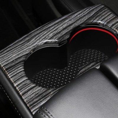 Tesla Model S X HIPS環保塑膠水杯架水杯座防刮裝飾貼片特斯拉汽車材料內飾升級內裝改裝套件 01