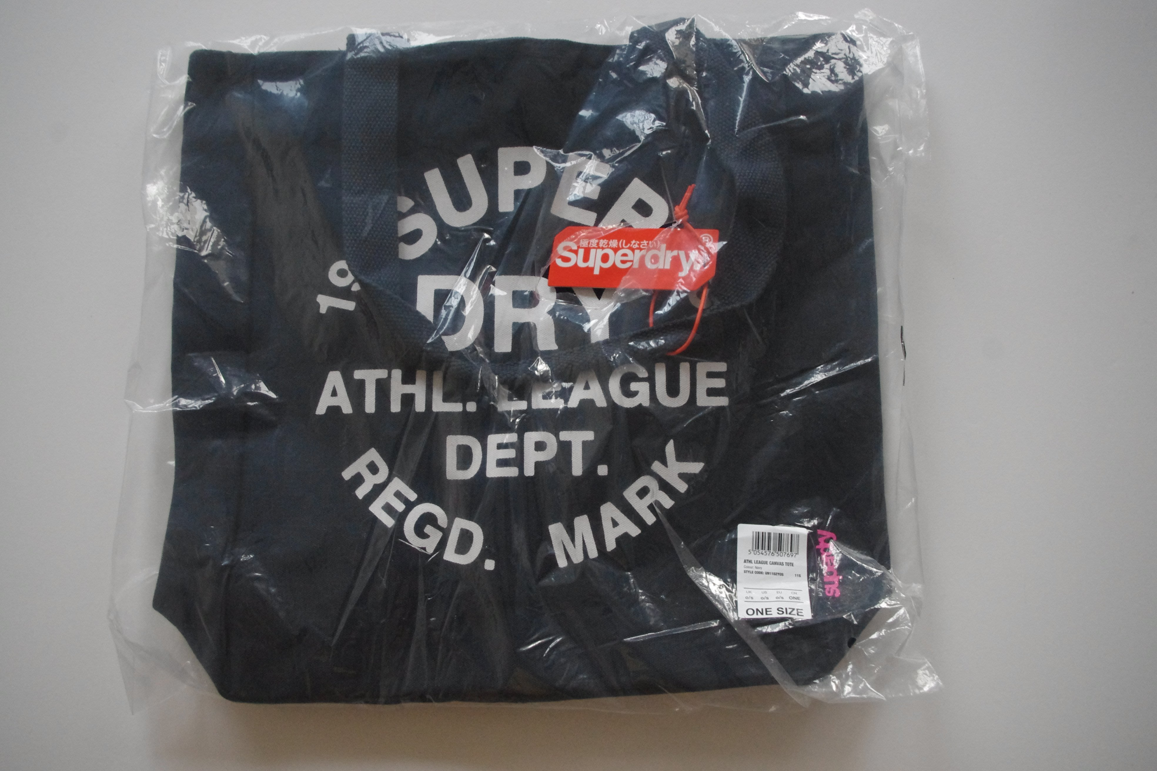 Superdry 極度乾燥 Athletic League 女生 印花圖案 帆布托特包 A&F Hollister
