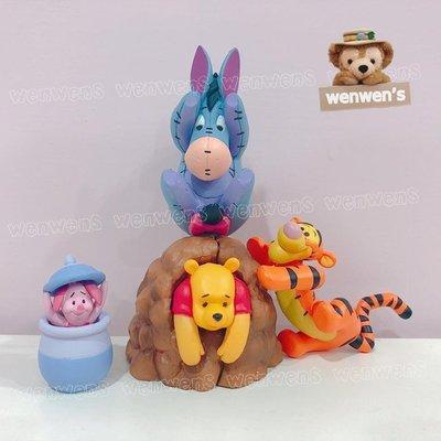 【Wenwens】日本帶回 扭蛋 轉蛋 T-ARTS 小熊維尼 小豬 維尼 跳跳虎 易爾 公仔 POOH 一套4款