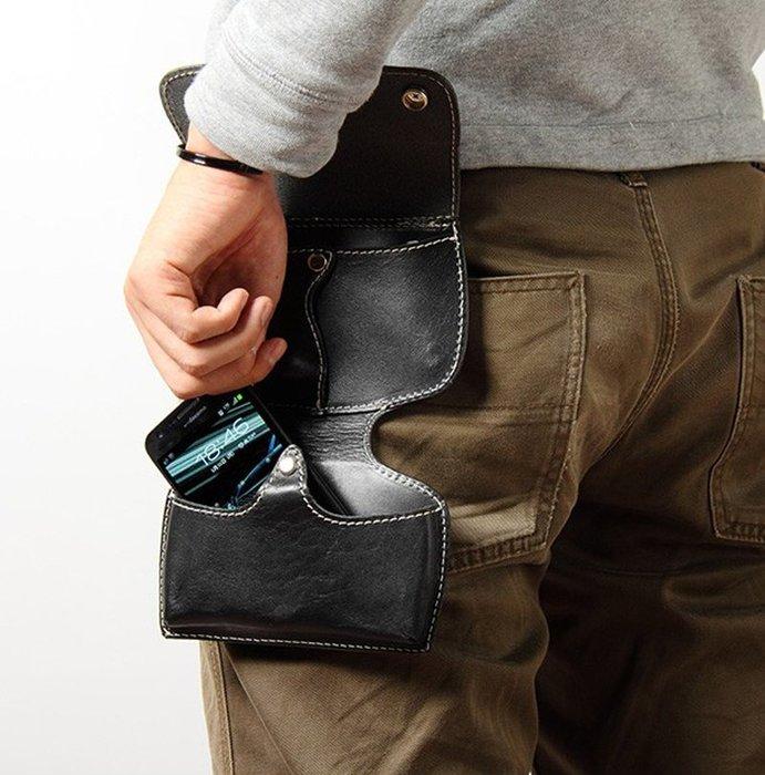 ☆野小子☆日本進口手工精緻嚴選(馬鞍牛皮)個性限定版-手機包-腰包2用款~DEGNER~V02~有2色可選~代購款