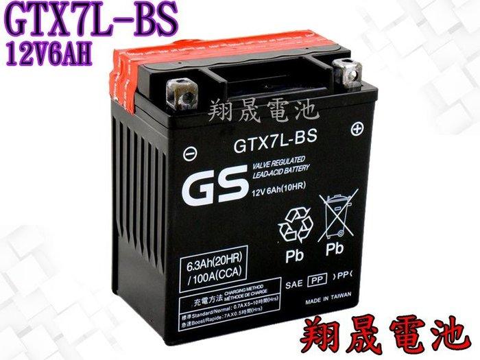 彰化員林翔晟電池~GS 統力 機車電池 GTX7L~BS YTX7L~BS FTX7L~B