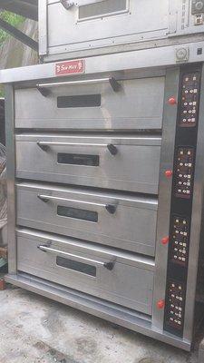 烤箱~四層12皿式三麥公司出品、有蒸氣 、石板保固半年
