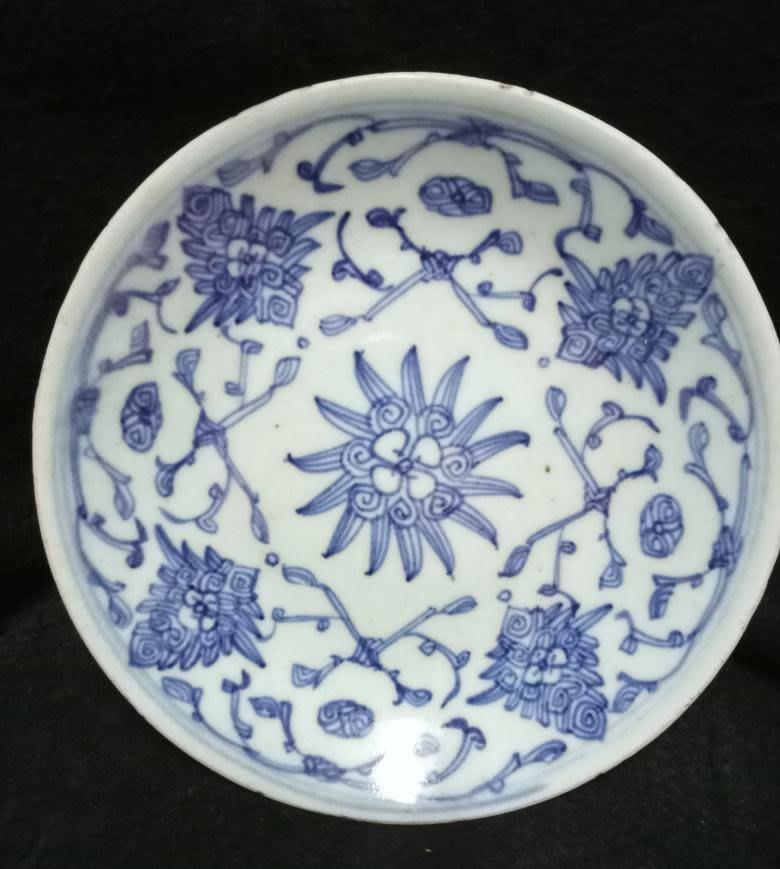【Sun art -七絕樓】道光年纏枝青花瓷盤