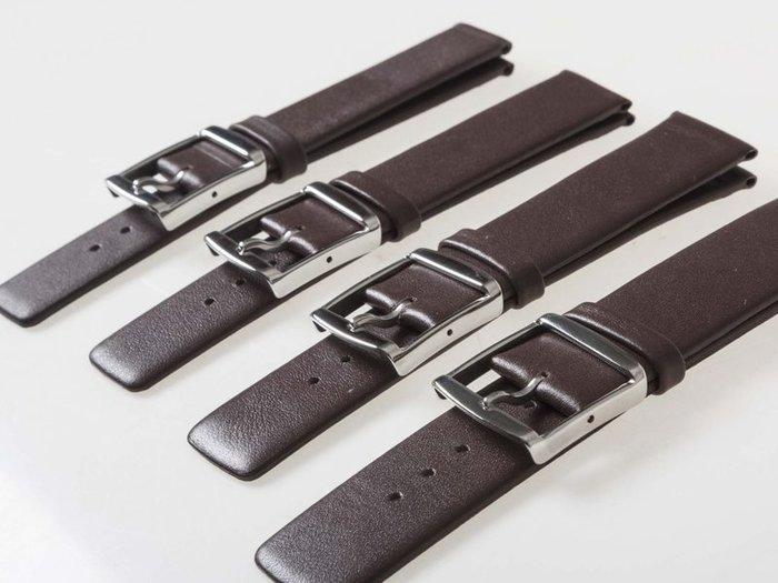 DW CK 各錶款適用 氣質款 男女超薄真皮錶帶 - 棕色 - 16mm / 18mm / 20mm / 22mm