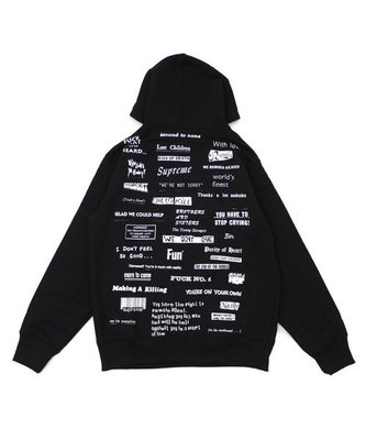 Supreme 19FW Stop Crying Hooded 連帽 長袖 帽Tee