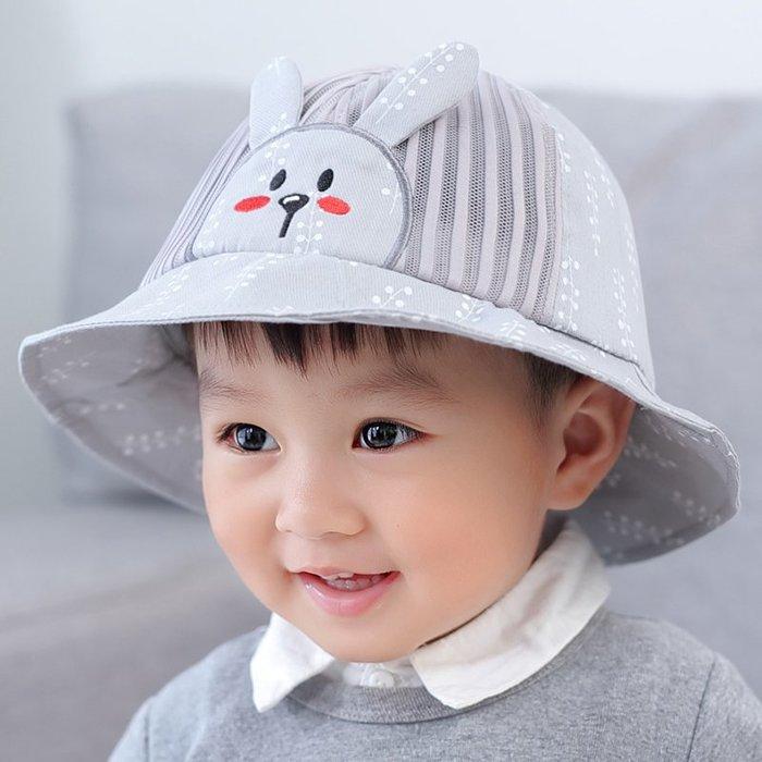 夏寶寶 帽子1 -3歲 男童春 秋網眼 漁夫帽 沙灘帽 盆帽女 孩遮陽 帽薄款 潮 帽子 防曬帽  兒童帽子 太陽帽 正韓