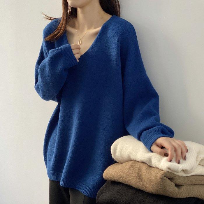 YOHO 長袖毛衣 (YS025) 實拍超軟糯寬鬆V領長袖針織衫 有5色 預購