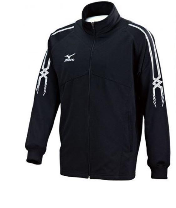 運動GO~ Mizuno 美津濃 立領外套 薄款 針織 運動 黑白 慢跑 休閒 32TC753509