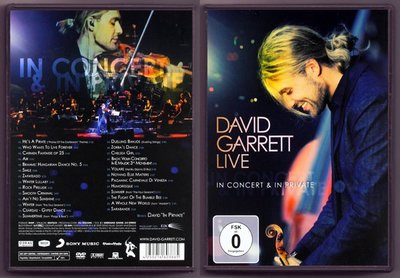 音樂居士#David Garrett - Live In Concert & In Private () DVD