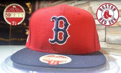 New Era Heritage Series Boston Red Sox 復古系列波士頓紅襪隊全封尺寸帽