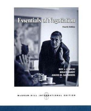 Essentials of Negotiation(4版) ISBN:0071254277 全英文原文書 大學 行銷