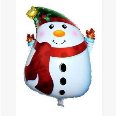 【J21】聖誕節鋁膜汽球鋁箔氣球聖誕樹聖誕老公公耶誕老人雪人耶誕節耶誕樹造型氣球DIY佈置氣球布置