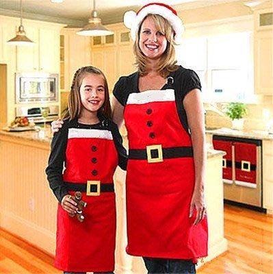 艾莉小舖 熱賣聖誕裝飾品 聖誕節日用品 聖誕圍裙 聖誕家庭party用品