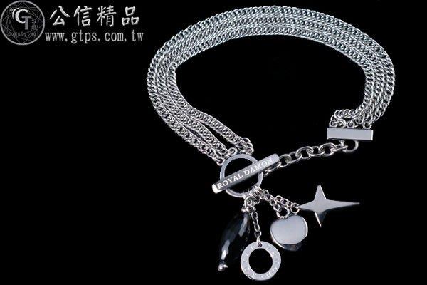 【公信精品】全新品 羅亞戴蒙(ROYAL-DAMON) 黑色媚惑-手鍊  新品價3300元