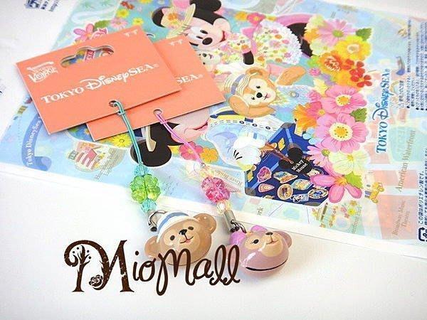 ♥東京迪士尼海洋限定♥超可愛達菲熊Duffy ShellieMay幸運草鈴鐺♥手機吊飾/數位相機掛飾♥