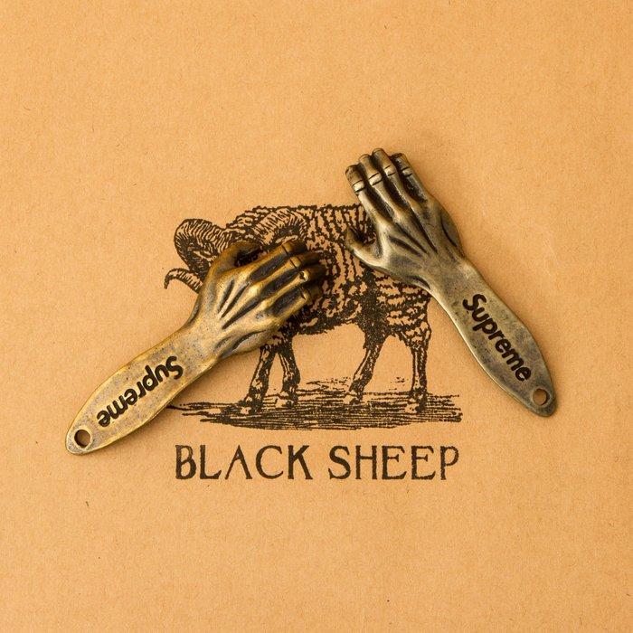 黑羊選物 黃銅 白銅 鑰匙圈 開瓶器  復古 潮流小物 純銅製成 Supreme復刻 手指造型 做工精細 平價配件