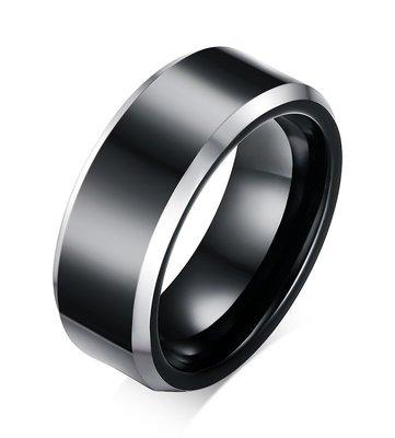 【超特價】戒指黑色TCR時尚電鍍新款歐美風純正鎢鋼指環歐美風格