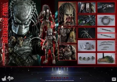 全新未開 Hot Toys AVP2:Requiem Wolf Predator(Heavy Weaponry)
