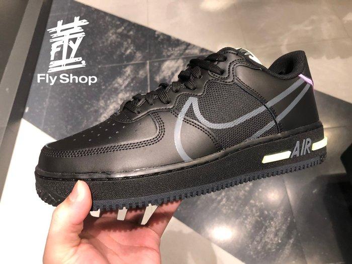 [飛董] NIKE AIR FORCE 1 REACT D/MS/X 休閒鞋 大勾 氣墊 男鞋 CD4366 001 黑