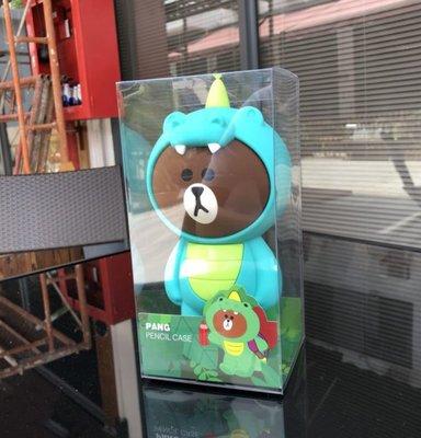 【現貨當日出】新款韓國恐龍熊大立體鉛筆盒 布朗熊 Line Friends 可妮兔 筆袋 模型 公仔 娃娃 化妝包