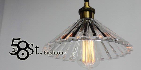 【58街】設計師新款式「折傘玻璃吊燈」美術燈。複刻版。GH-382