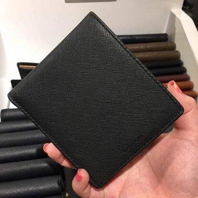 【八妹精品】COACH 74771 新款男士十字紋牛皮防刮皮夾 錢包 內置零錢袋 多卡位 短夾