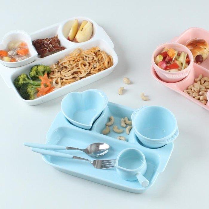 [特惠免運]一人食家用陶瓷分格餐盤多格早餐分隔盤創意日式餐盤成人—《MONA》