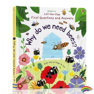 我們為何需要蜜蜂 英文原版 科普翻翻書Why Do We Need Bees? Lift-the-Flap First Questions and Answer