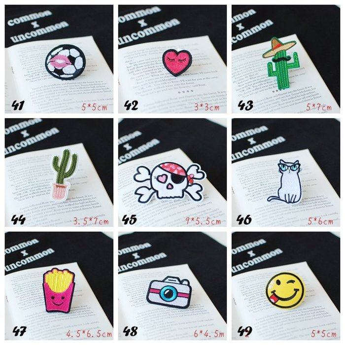 【里樂@ LeaThER】個性可愛造型布貼 熨斗貼 燙布貼 DIY 巧-3